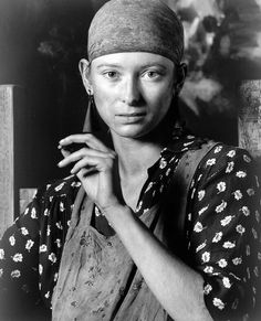 Tilda Swinton photographed by Mike Laye, in her film debut, in Derek Jarman's 'Caravaggio'