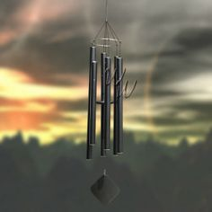"""Music Of The Spheres 60"""" Wind Chime - Whole Tone Tenor#MadeintheUSA #handtuned #soprano #whimsicalwinds #windchime   Shop for your perfect wind chime today at whimsicalwinds.com"""