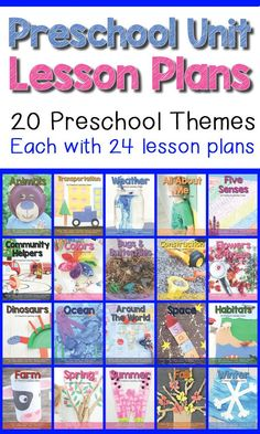 Preschool Themes Lesson Plans