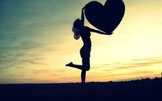 Image result for shape of love heart in the sunset