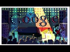 """This Google Doodle celebrated what would have been the 65th birthday of the late Queen singer Freddie Mercury, picturing the flamboyant, golden-throated performer at the piano, on a throne and surrounded by mustachioed bears, as well as floating through the atmosphere.  """"I'm a shooting star leaping through the skies...""""   Mercury died in 1991 — of bronchopneumonia after announcing he had AIDS — at just age 45."""