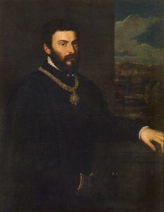 Titian (Tiziano Vecelli or Tiziano Vecellio) - Portrait of Count Antonio di Porcia and Brugnera at Pinacoteca di Brera Milan Italy