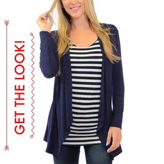 """GAP Navy Open Cardigan You'll throw this Gap navy open cardigan over everything! It's a perfect layer, with its soft slubby blend of cotton and rayon. 30"""" total length. Please note that the cover shot is for styling purposes only; the cardigan for sale is shown in pictures #2, 3 and 4. In excellent condition with no holes, stains or tears. Worn once or twice. Please ask questions before purchase as all sales are final. GAP Sweaters Cardigans"""