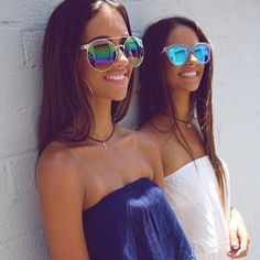 Stickin wit the bff Ray Ban Sunglasses Outlet, Oakley Sunglasses, Mirrored Sunglasses, Summer Sunglasses, Only Fashion, Teen Fashion, Fashion Tips, Fashion Trends, Fashion 2015
