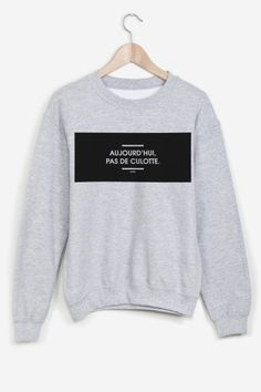Heather grey sweatshirt hand-printed with care. American cut, crew neck, fitted shoulders and sleeves, ribbed trim and tightening at wrists. Ultra soft and comfortable inside. I licked it by Gone for Rad. Fashion Mode, Korean Fashion, Hot Outfits, Casual Outfits, Rage, Grey Sweatshirt, Graphic Sweatshirt, Brooklyn, T Shorts