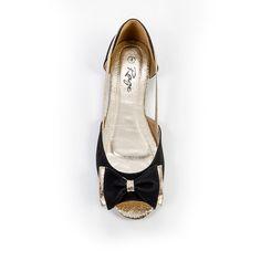 R225.00 Black Peep Toe Pumps, Rage, Salvatore Ferragamo, Peeps, Flats, Detail, Shoes, Fashion, Loafers & Slip Ons