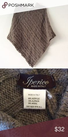 Iperico Wool Shawl made in Italy Perfect for a nifty night out.  60% Acrylic, 10% Alpaca, 30% Wool.  Machine wash or dry clean.  Made in Italy.  Cover yourself in style! Iperico Accessories Scarves & Wraps