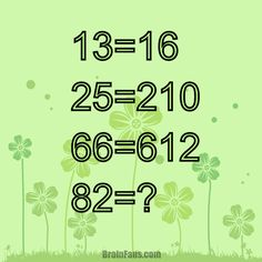 Solve this challenge with numbers and find the pattern. 13=16 25=210 66=612 82=?