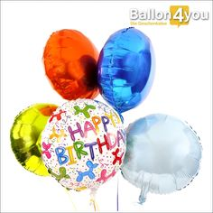 Ballonbukett XXL - Happy Birthday Ballonfiguren     Zahlreiche bunte Ballonfiguren zieren dieses Ballonbukett. Ob es sich dabei um Hunde, Katzen oder Pferde handelt - der Phantasie der beschenkten Person sind dabei keine Grenzen gesetzt. Abgerundet wird dieses Bukett durch vier bunte Rundballons.