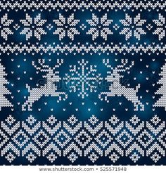 New Year and Merry Christmas seamless background. Fair Isle Knitting Patterns, Christmas Knitting Patterns, Knitting Charts, Loom Patterns, Knitting Stitches, Knitting Yarn, Xmas Cross Stitch, Cross Stitch Borders, Cross Stitch Embroidery
