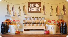 Gone Fishin' Fisherman Party via Kara's Party Ideas KarasPartyIdeas.com #fishing #fisherman #birthday #party #ideas
