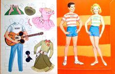 Walt Disney's Mouseketeers paper dolls