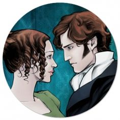 Pride and Prejudice coaster with Darcy and Elizabeth.