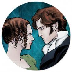 Pride and Prejudice coaster with Darcy and Elizabeth.