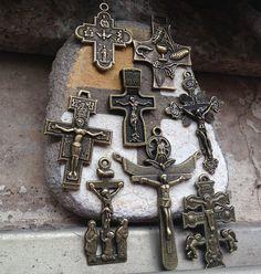 8 PCS different styles antique bronze by CatholicHosannaGifts,