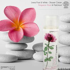 Shower Cream Bulgarian Rose & Patchouli   Rosa bulgara e patchouli uniti in uno shower cream dalla fragranza delicata e completamente biologica.   Oltre a donare giovinezza alla pelle, la combinazione degli ingredienti è particolarmente indicata per la cura di cellulite, acne ed eczemi.