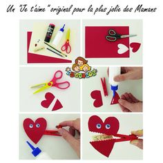 Valentine's Cards For Kids, Diy For Kids, Crafts For Kids, Diy Crafts, Valentines For Kids, Valentine Day Crafts, Valentine Ideas, Diy St Valentin, Material Didático