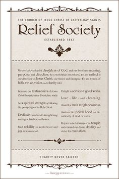 LDS Relief Society Theme (free printable!) - by Have Joy Designs