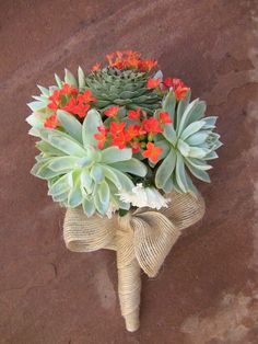 Succulently Urban has tons of great ways to incorporate cactuses into your flower arrangements