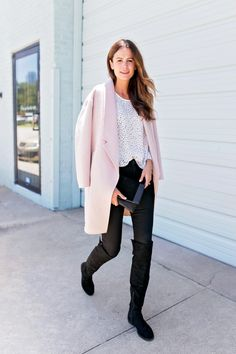 d6155b5404 The Miller Affect wearing black over the knee boots from the Nordstrom Sale  Amanda Miller