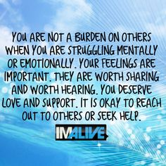 IMAlive.org | Suicide Prevention - You're not a burden. You matter.