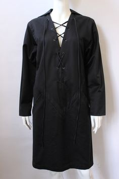 Yves Saint Laurent Black Safari Tunic Top, Vintage, $800 | juneresale.com
