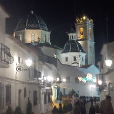 Beautiful town of Altea,Spain by night.