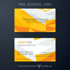 Yellow Color Business Card Design Free Vector - https://vecree.com/7439730/yellow-color-business-card-design-free-vector/
