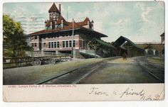 PA Allentown Lehigh Valley Railroad Station Depot LVRR | eBay