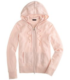 Light pink hooded zip up jacket
