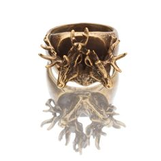 Sideshow Deer Ring  by SNASH JEWELRY  #Antler #Antlers