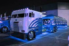 Blue light show
