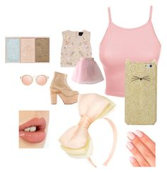 """""""pastel pink bouquet outfit"""" by dazzling-pink-elaina ❤ liked on Polyvore featuring Needle & Thread, Chicwish, Elegant Touch, Charlotte Tilbury, Paul & Joe Beaute, Deandri, LE3NO, Kate Spade and Benoît Missolin"""
