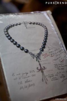 Van cleef & Arpels. Pearl necklace sketch...♡