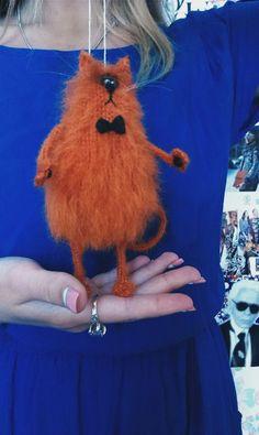 Knitted Animals, Needle Felted Animals, Felt Animals, Needle Felting, Amigurumi Patterns, Cat Doll, Knitting For Kids, Crochet Toys, Plushies
