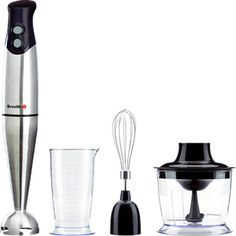 The Breville VHB014 is a 3 in 1 blender set. The blender has a detachable head, which is dishwasher safe and made from Stainless Steel. The Stainless Steel, two-tip blade is positioned inside the head for safety. - See more at: http://on.coop/1M50PwP