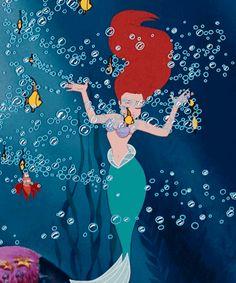 Disney's The Little Mermaid Ariel and Sebastian dancing under the sea