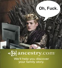 More like Incestry.com...I don't watch the show but this is hilarious omg