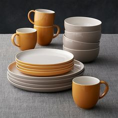 Olson 16-Piece Dinnerware Set | Crate and Barrel