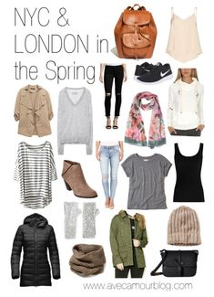 Packing for New York & London in the Spring in a Carry On
