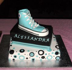 All star converse cake - All star converse cake for the 13 years of my daughter