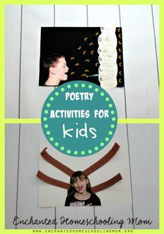 Come have fun with these hands-on poetry activities for kids from the Bill Martin Jr. Big Book of Poetry. #poppinsbooknook #kidsbookclub #storybookactivities