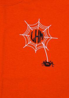 Tangled Web monogram tshirt Perfect for Fall by BurlapandLaceSC1