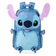 Disney Stitch Rolling Backpack - Lilo and Stitch Lilo Stitch, Stitch Disney, Lelo And Stitch, Stitch Head, Cute Stitch, Mochila Galaxy, Moda Disney, Disney Store, Disney Insider