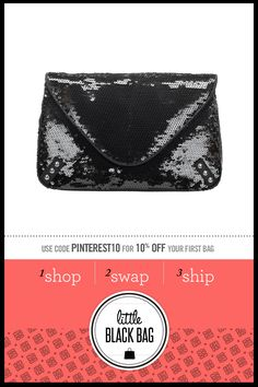 R  Sequin envelope Clutch from LittleBlackBag.com  ::Black:: Handbag:: Clutch:: Sequins