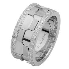 White Gold Diamond Eternity Ring | www.weddingbands.com | @Judith de Munck Clark Bands