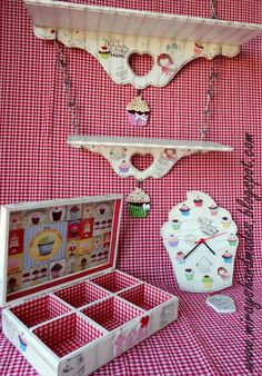 CUPCAKE KITCHEN SET - Hand Paint (This is Originally made by Mirayshandmades - Miray Yildizli Taskiran From Turkey) mirayshandmades@gmail.com