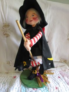 Large 18 Annalee Witch Doll With Stand and by suburbantreasure