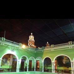 Palacio y cathedral, Merida, Yucatan, Mexico