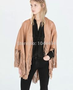 New Fashion Ladies' Faux Suede Leather Fringe Jacket coat long sleeve outwear Tassel Cardigan casual slim brand designer tops-in Basic Jackets from Apparel & Accessories on Aliexpress.com | Alibaba Group